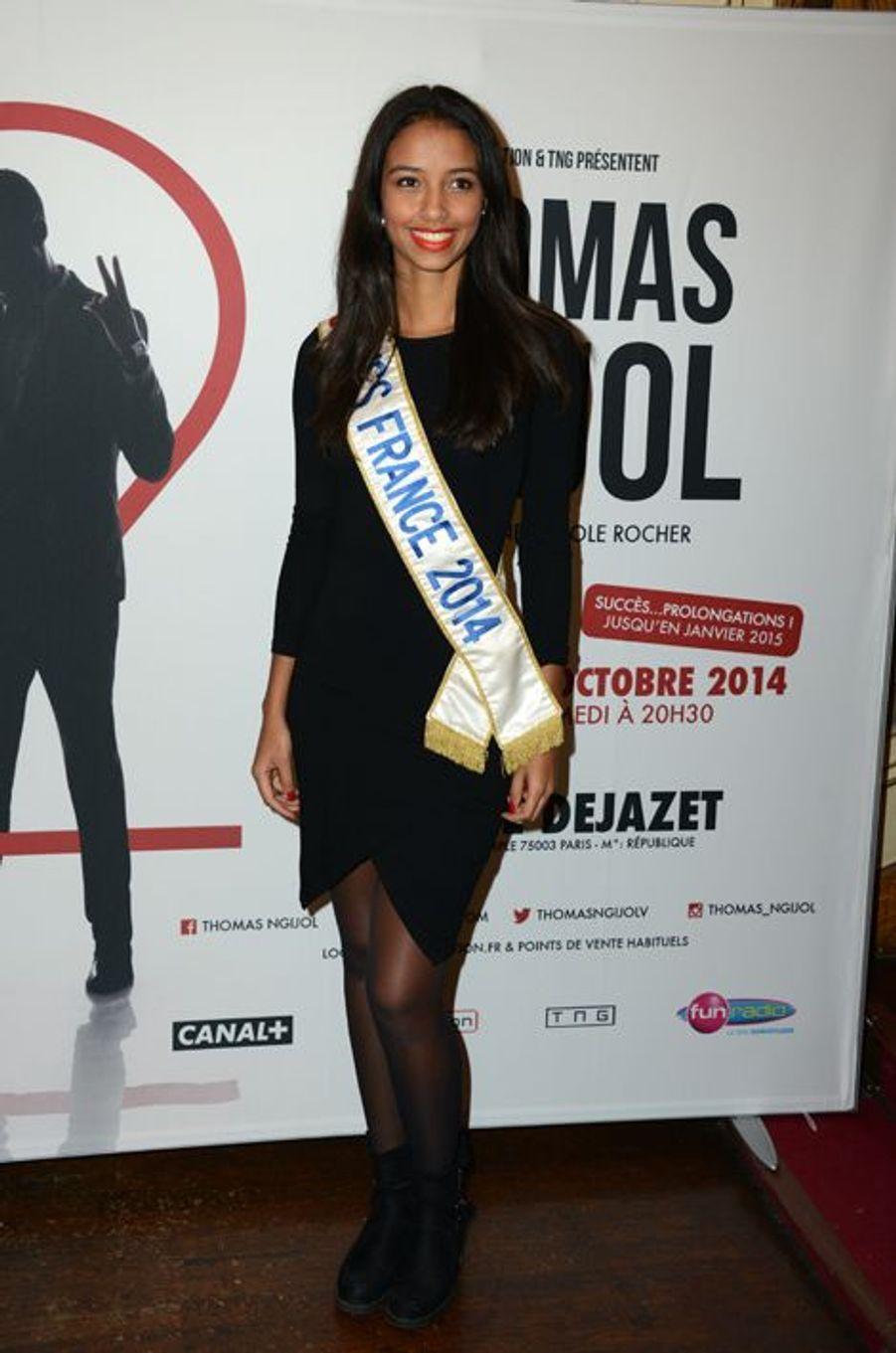 Flora Coquerel à la générale du spectacle de Thomas Ngijol à Paris, le 27 octobre 2013