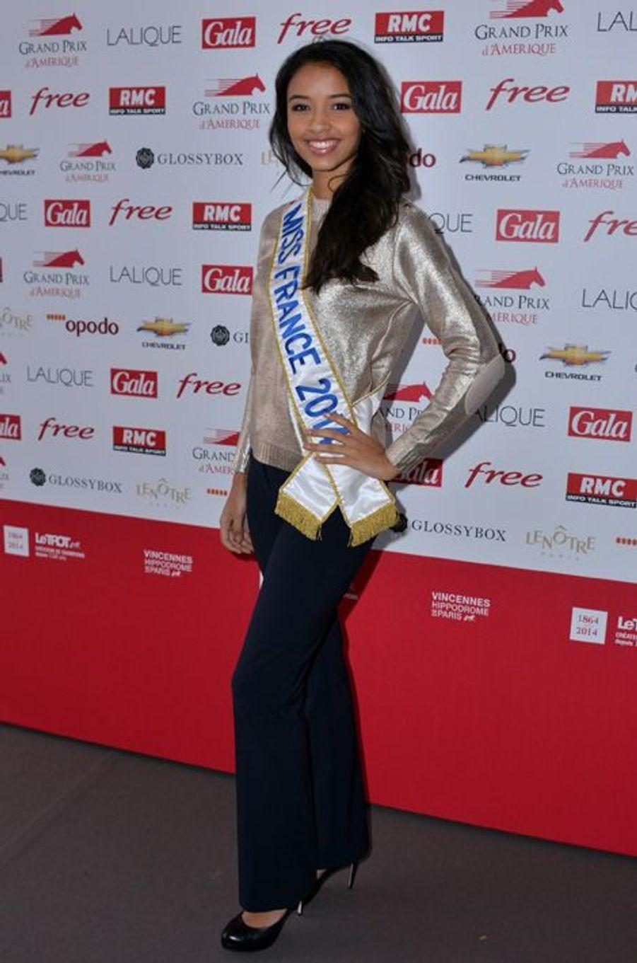 Flora Coquerel au Prix d'Amérique à Vincennes, le 26 janvier 2014