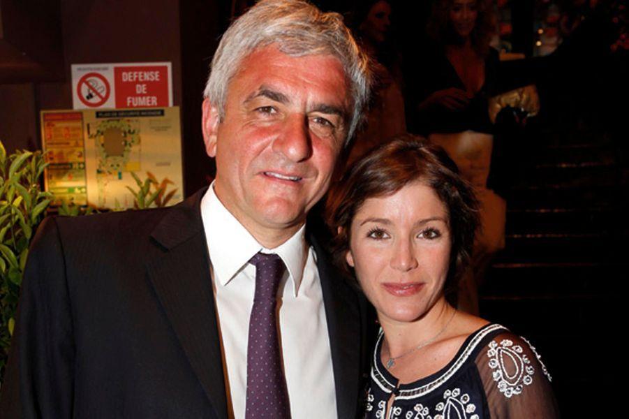 Hervé Morin, ex-ministre de la Défense, et sa femme Elodie, enceinte.