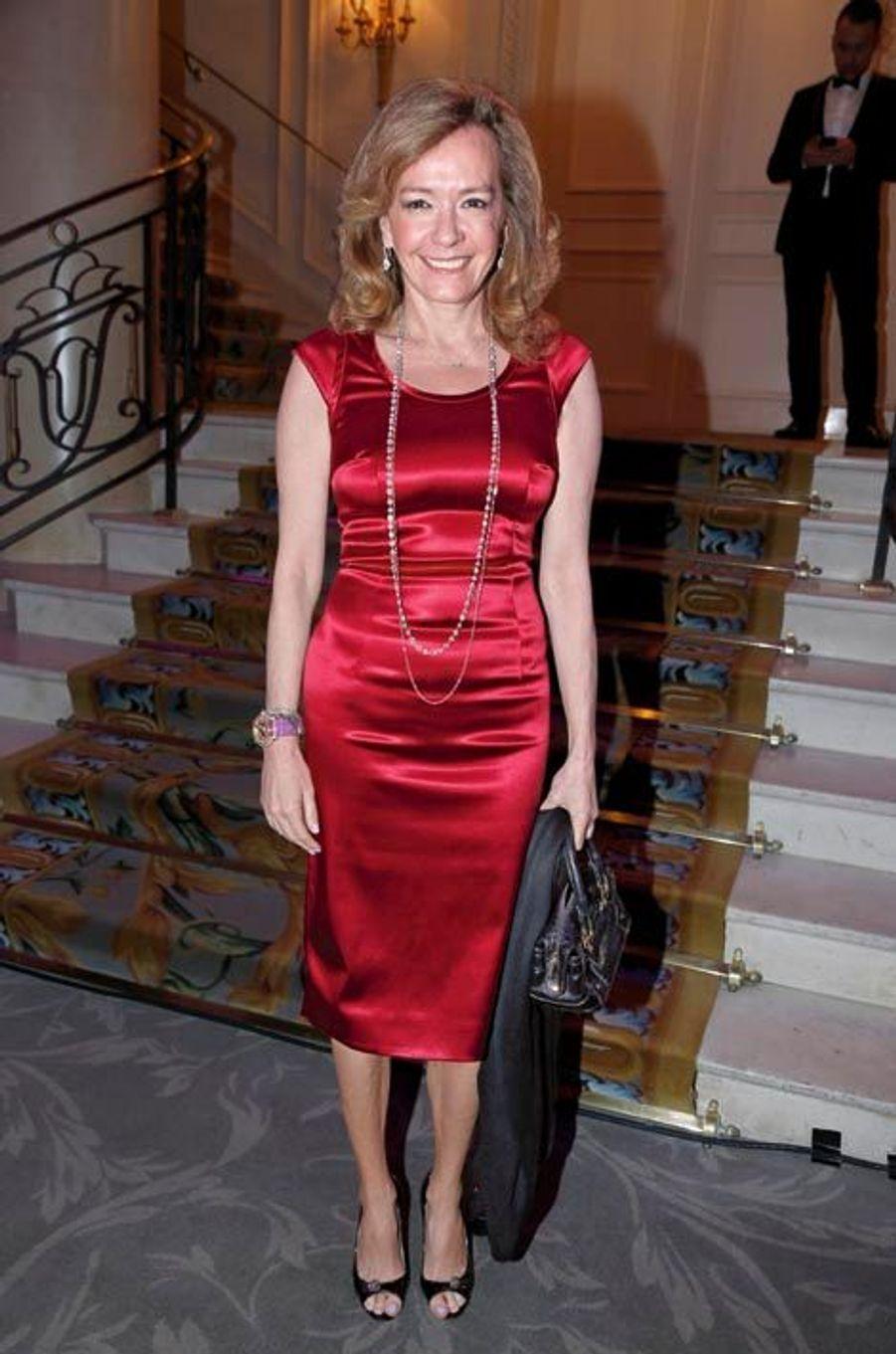 Coprésidente de Chopard, Caroline Scheufele avait offert un magnifique collier pour la vente aux enchères.