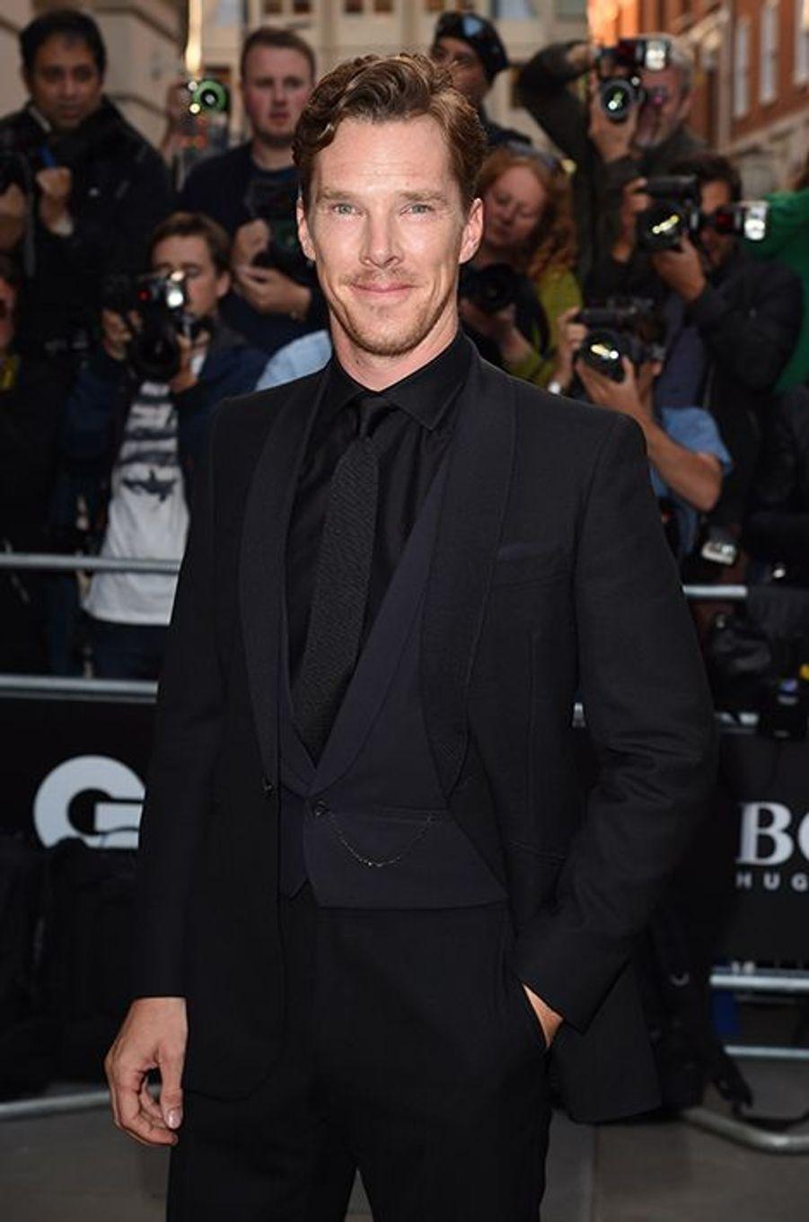 Benedict Cumberbatch à la 17ème cérémonie des GQ Awards 2014.