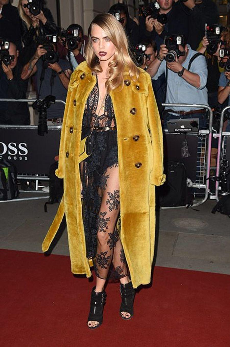 Cara Delevingne à la 17e cérémonie des GQ Awards 2014.
