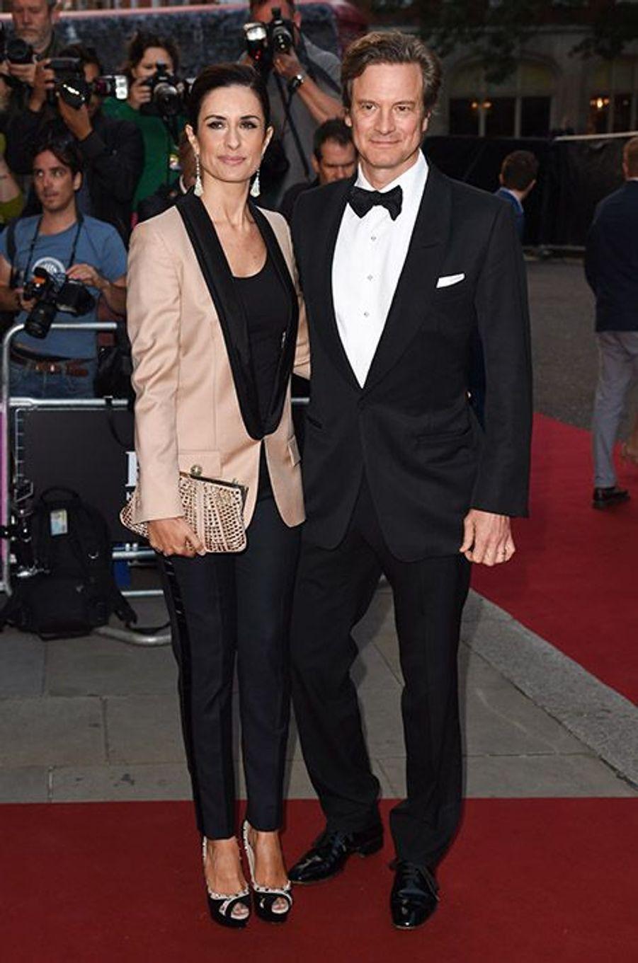 Colin et Livia Firth à la 17ème cérémonie des GQ Awards 2014.