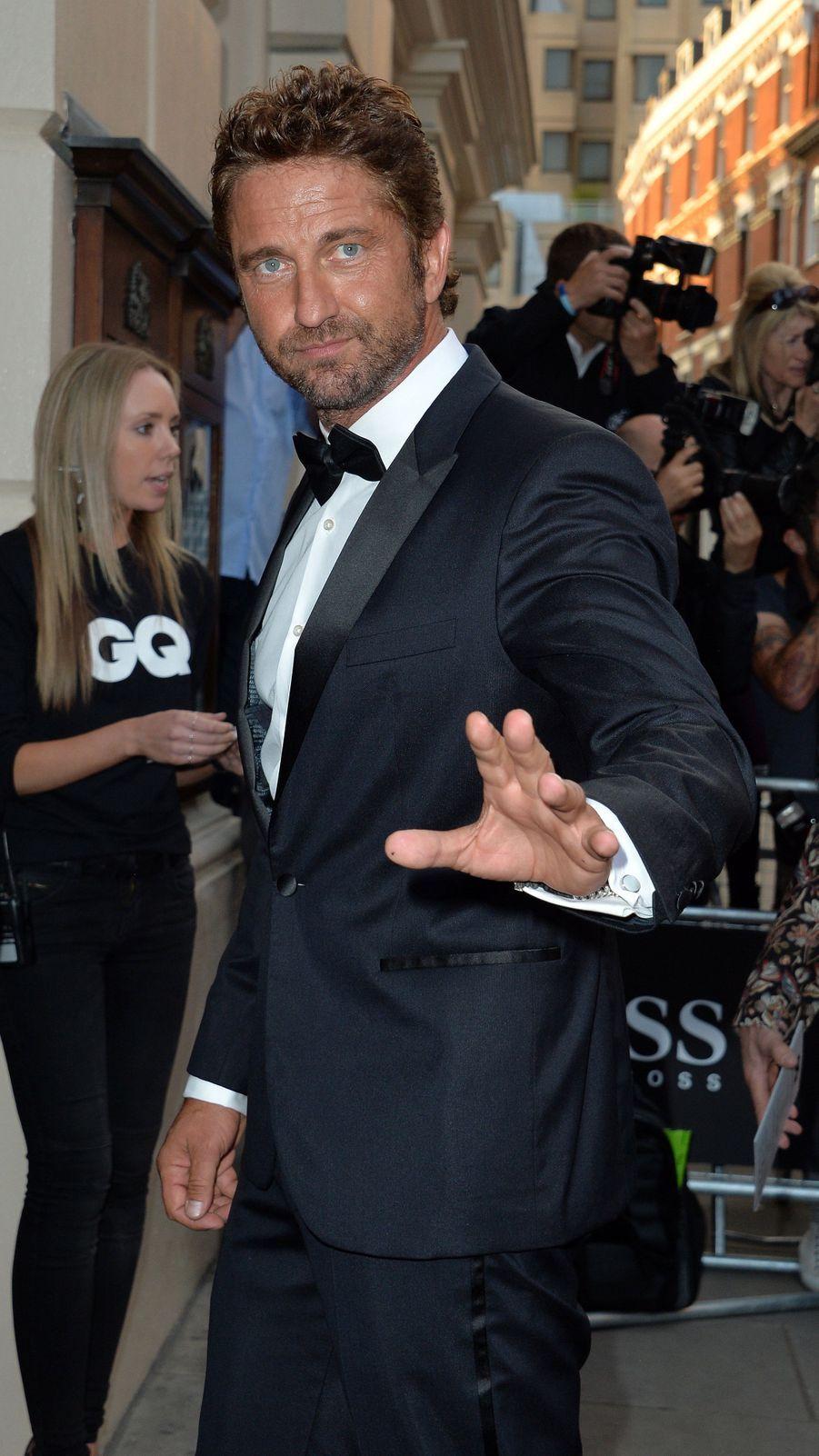 Gérard Butler à la 17e cérémonie des GQ Awards 2014.