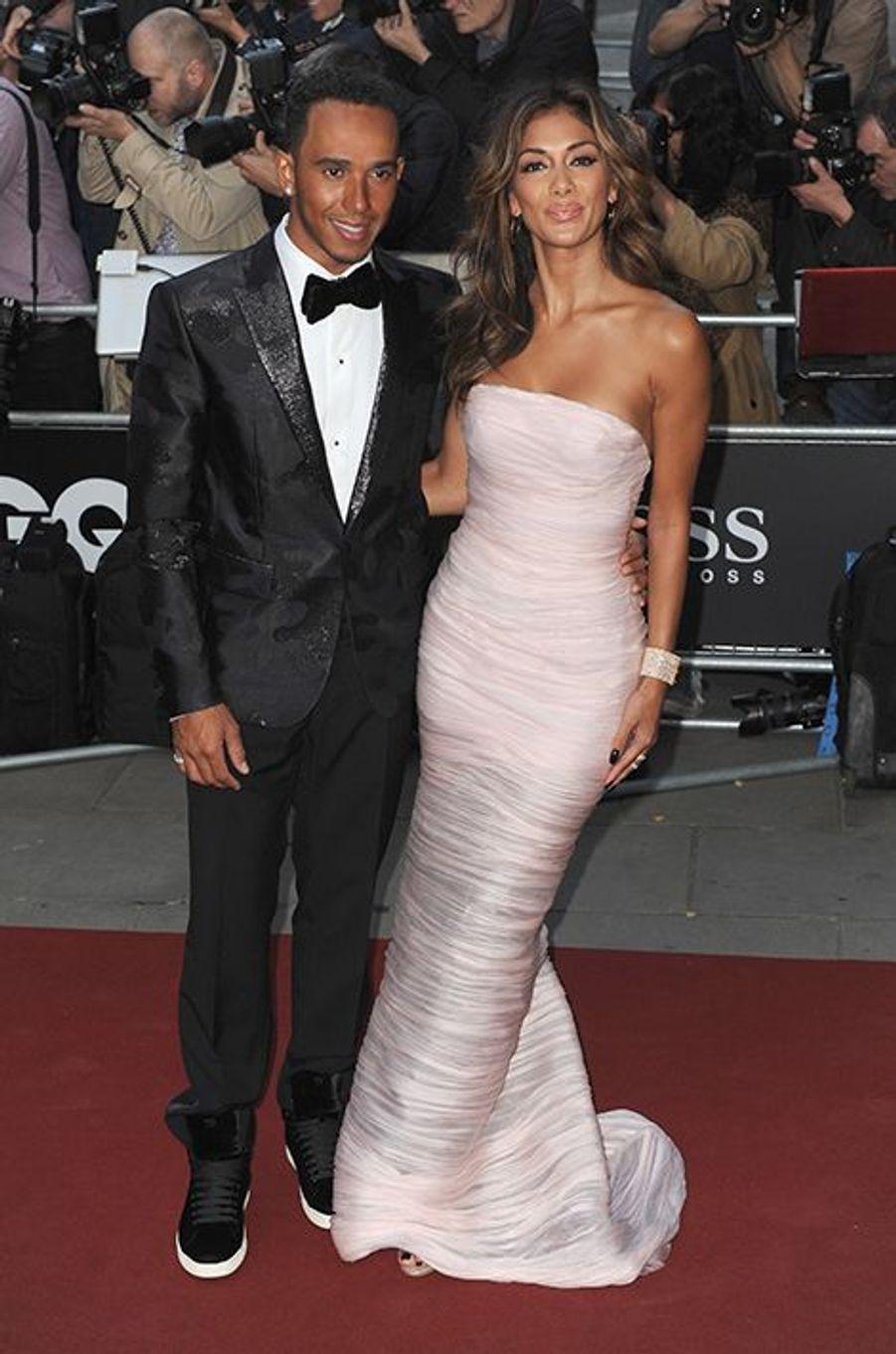 Lewis Hamilton et Nicole Scherzinger à la 17ème cérémonie des GQ Awards 2014.
