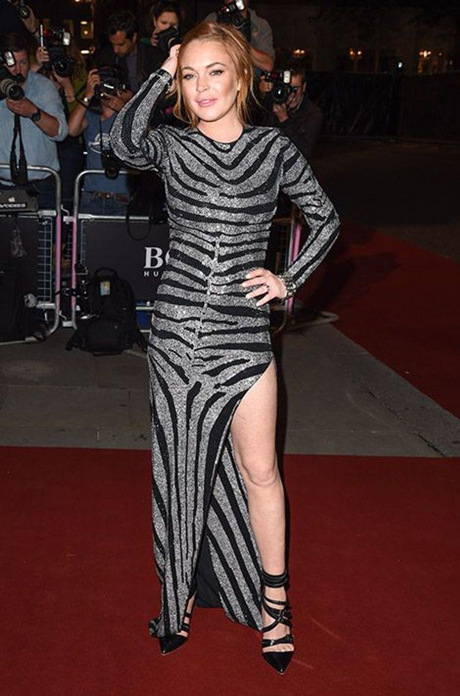 Lindsay Lohan à la 17e cérémonie des GQ Awards 2014.