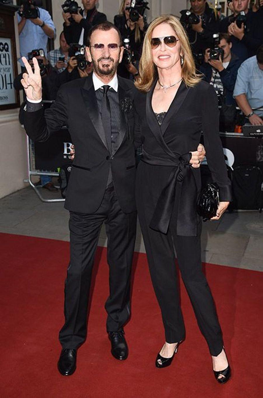 Ringo Starr et Barbara Bach à la 17ème cérémonie des GQ Awards 2014.