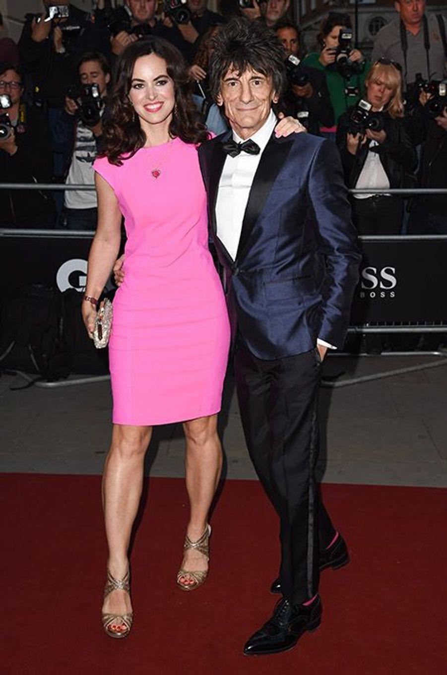 Ronnie Wood et Sally Humphrys à la 17ème cérémonie des GQ Awards 2014.