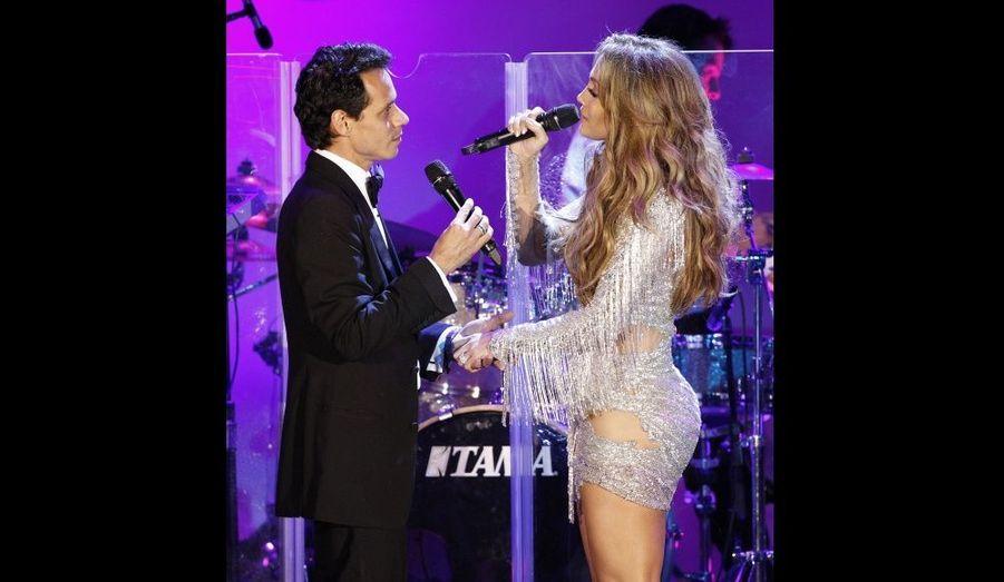 Jennifer Lopez et Marc Anthony sur scène