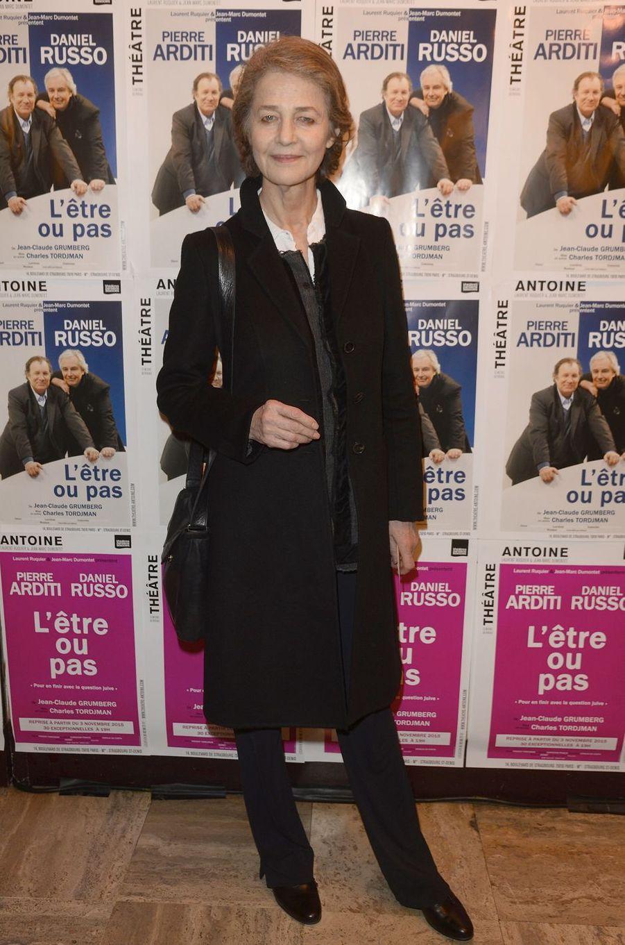 Charlotte Rampling à Paris le 21 mars 2016