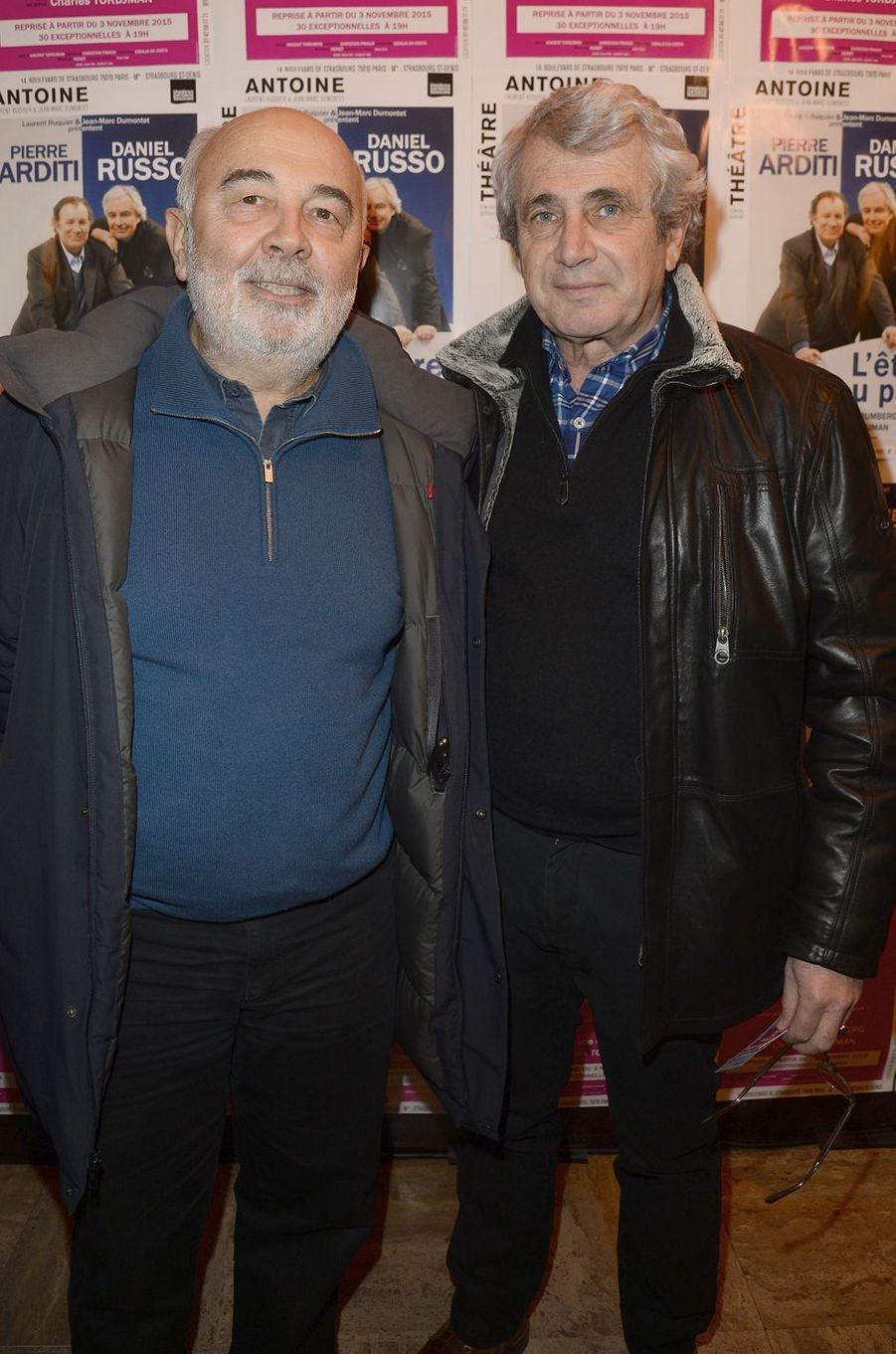 Gérard Jugnot et Michel Boujenah à Paris le 21 mars 2016