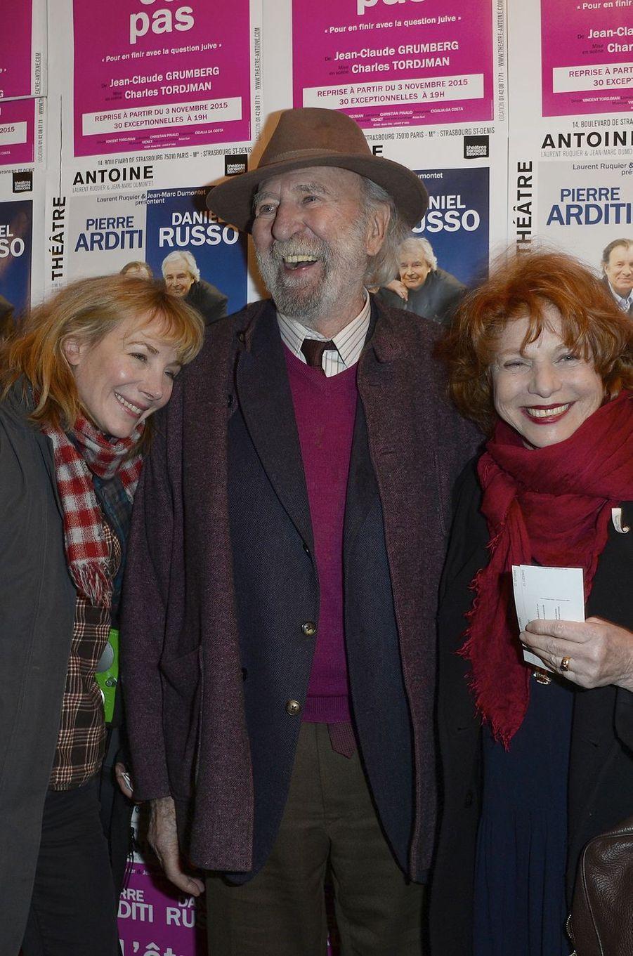 Julie Depardieu, Jean-Pierre Marielle et Agathe Natanson à Paris le 21 mars 2016