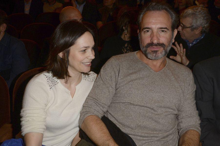 Nathalie Péchalat et Jean Dujardin à Paris le 21 mars 2016