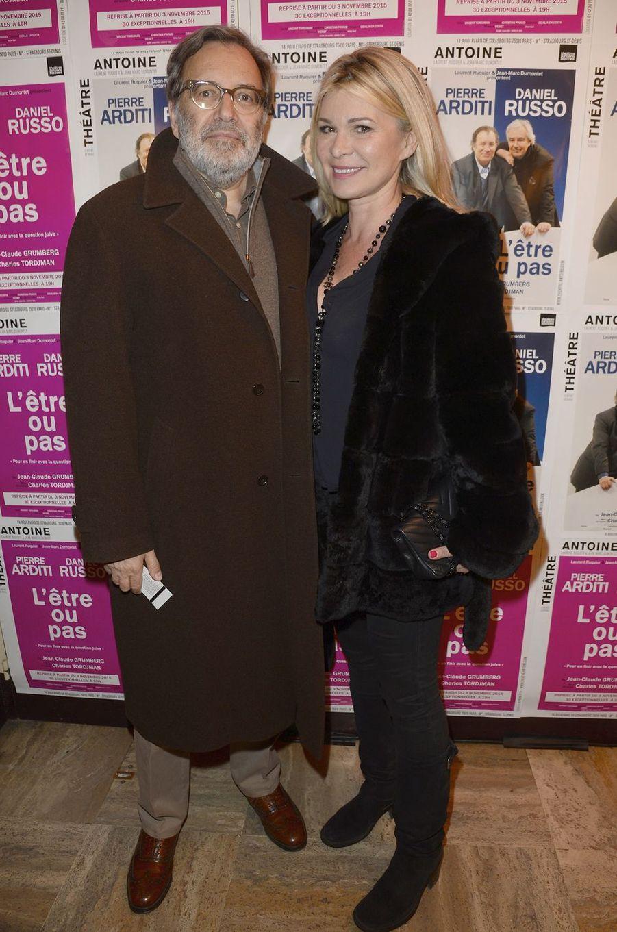 Nonce Paolini et son épouse Catherine à Paris le 21 mars 2016