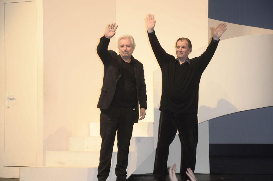 Pierre Arditi et Daniel Russo à Paris le 21 mars 2016