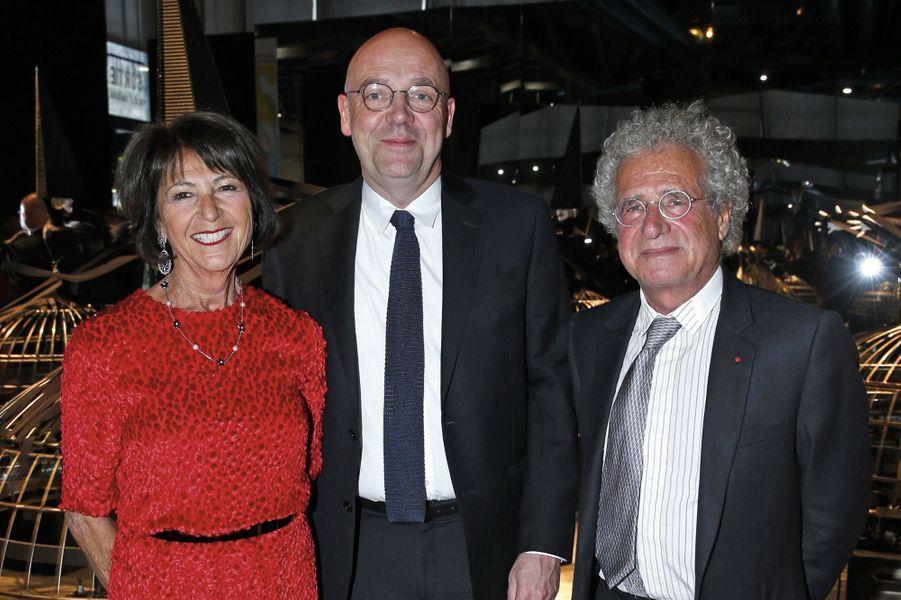 Martine Dassault, Fabrice Hergott, Laurent Dassault.