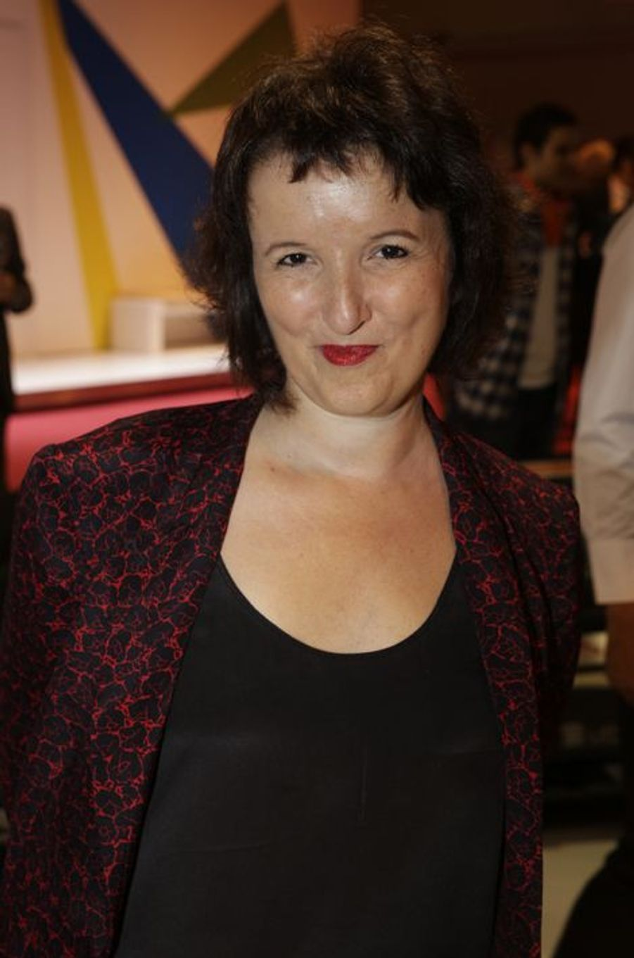Anne Roumanoff au Salon de l'Automobile 2014 à Paris le 2 octobre 2014