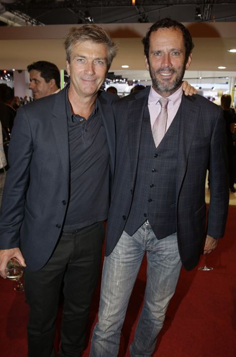 Philippe Caroit et Christian Vadim au Salon de l'Automobile 2014 à Paris le 2 octobre 2014