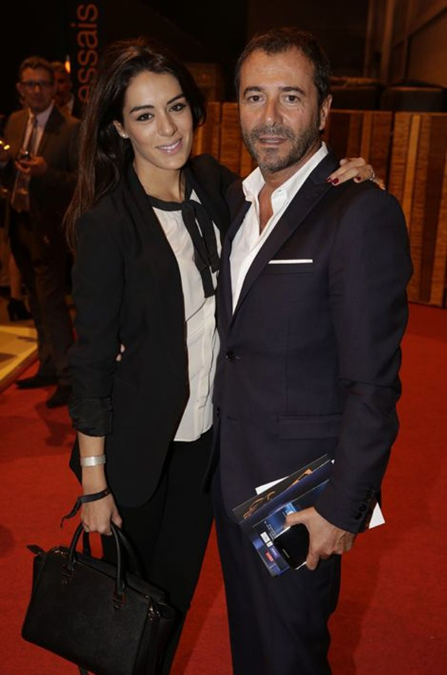 Sofia Essaïdi et Bernard Montiel au Salon de l'Automobile 2014 à Paris le 2 octobre 2014