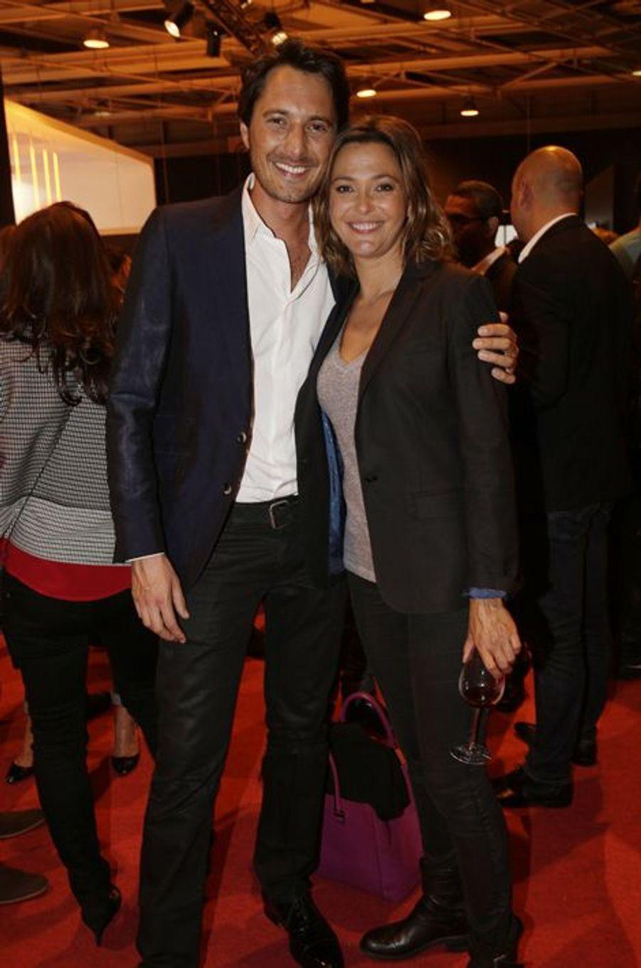 Vincent Cerutti et Sandrine Quétier au Salon de l'Automobile 2014 à Paris le 2 octobre 2014