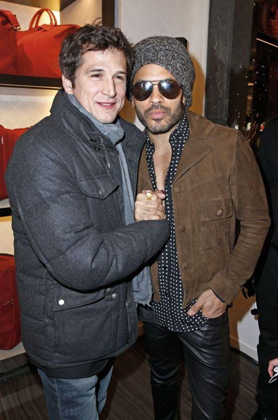 Guillaume Canet et Lenny Kravitz