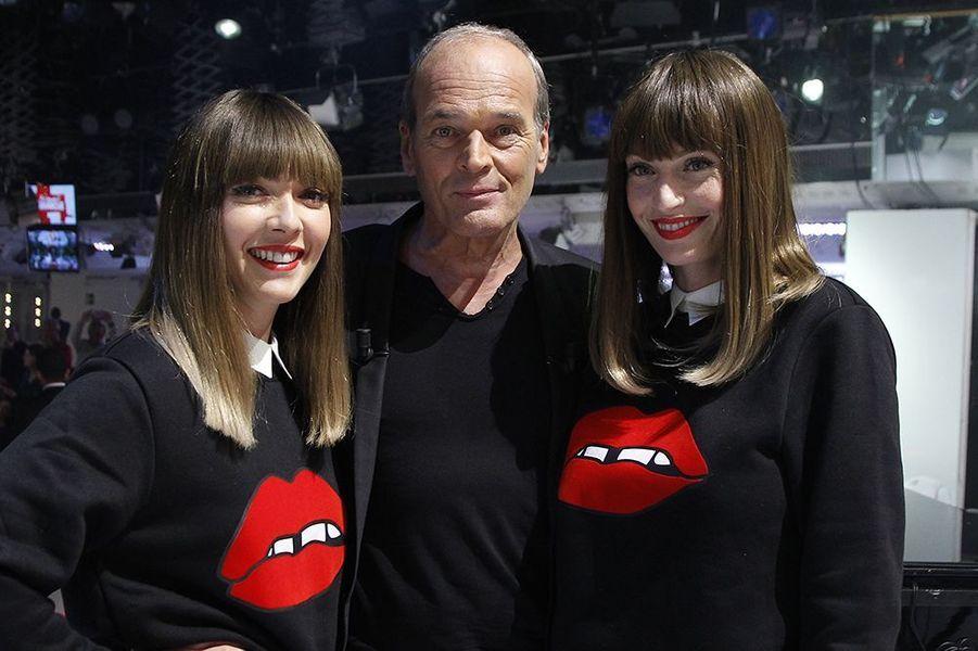 """Laurent Baffie et le groupe Brigitte sur le plateau de l'émission """"Vivement dimanche"""" le 22 octobre 2014"""