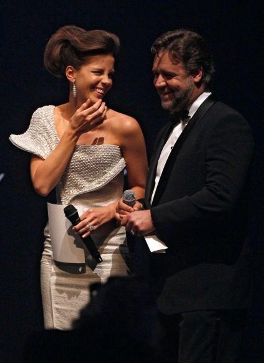 Kate Beckinsale et Russel Crowe, pas moins enjoués...