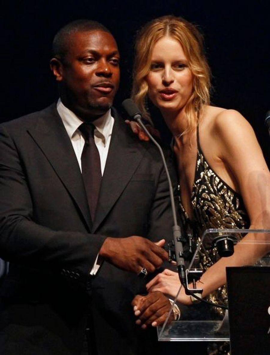 L'acteur Chris Tucker et le mannequin Karolina Kurkova.