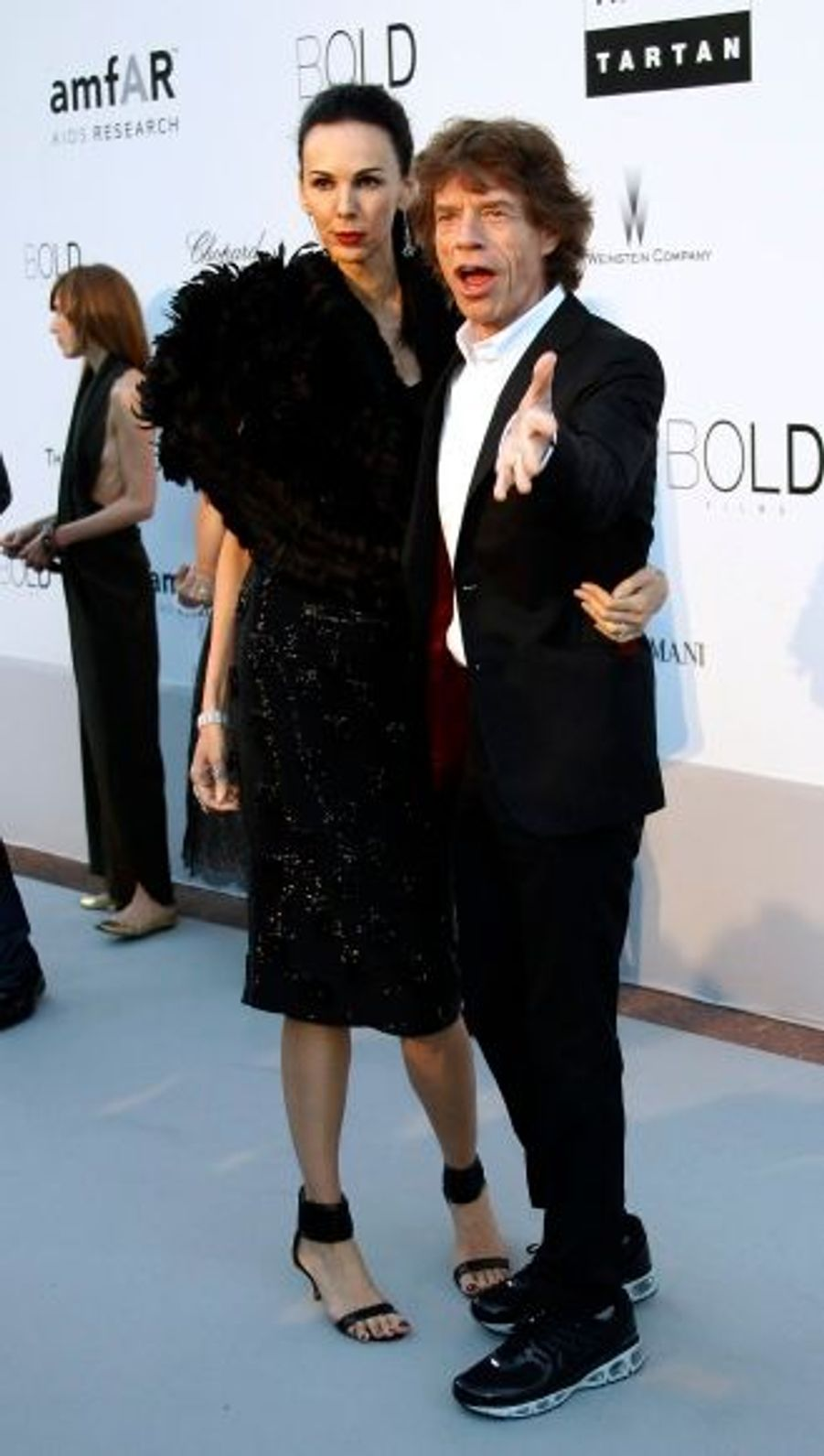 Mick Jagger et la styliste L'Wren Scott.