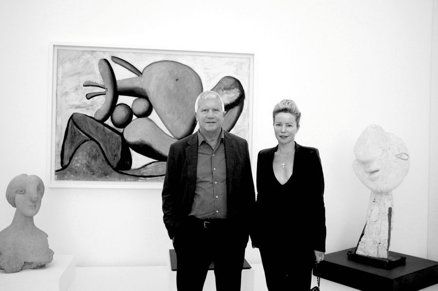 Larry Gagosian et Chrissie Erpf