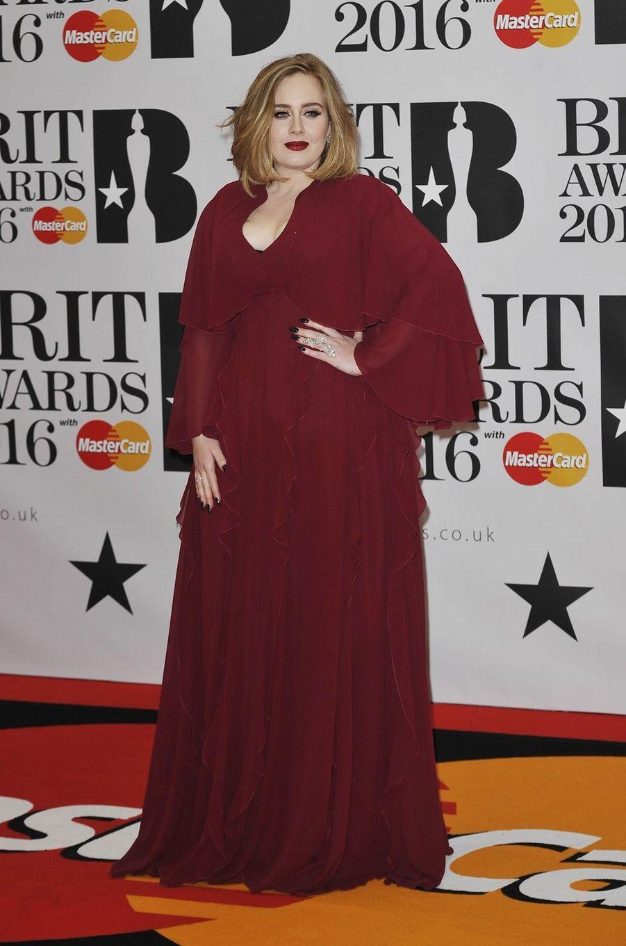 Adele à Londres le 24 février 2016