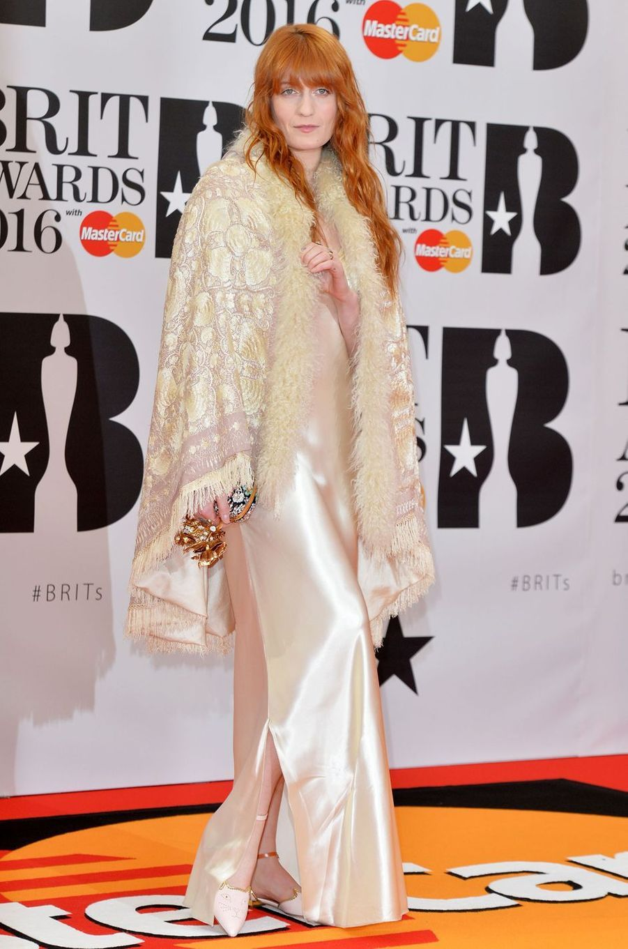 Florence Welch à Londres le 24 février 2016