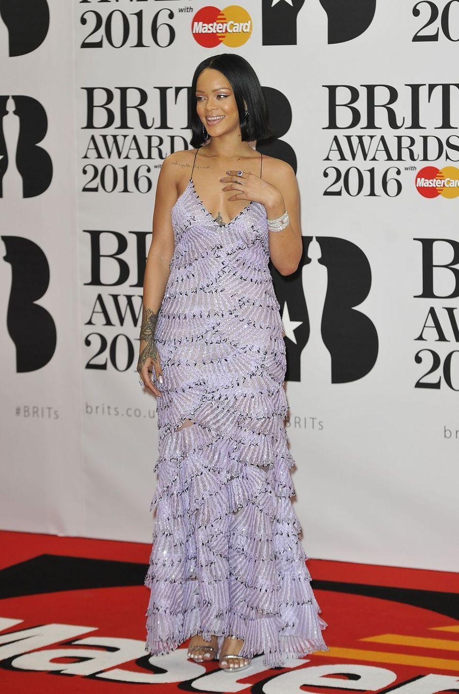 Rihanna à Londres le 24 février 2016