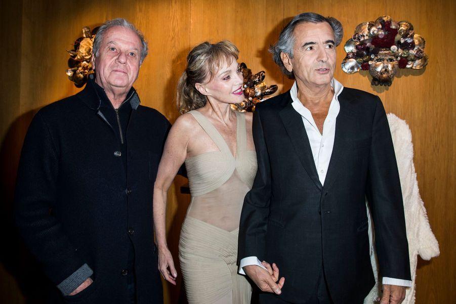 Jacques Grange, Arielle Dombasle et Bernard-Henri Lévy.