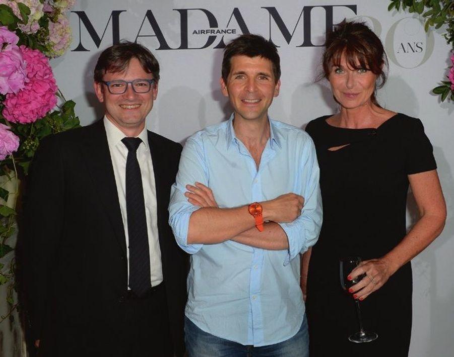 Jean-Charles Tréhan, directeur de la communication AF-KLM, Thomas Sotto, Caroline Pois.