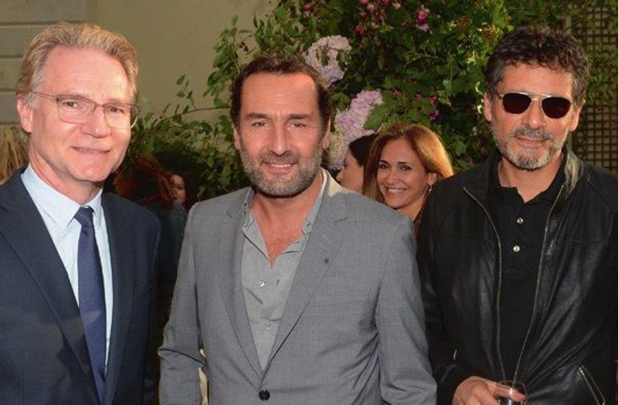 Olivier Royant, directeur de Paris Match, Gilles Lellouche, Pascal Elbé.