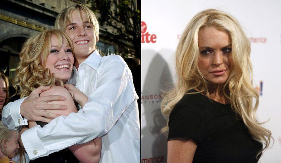 Le trio a fait le bonheur de la presse people de l'époque. Au début des années 2000, Aaron Carter, alors en couple avec la jeune Hilary Duff, n'a pas hésité à la tromper avec Lindsay Lohan. Et tout ce beau monde n'avait à l'époque que … 14 ans! Interrogé à propos de ce triangle amoureux quelques années plus tard, Aaron Carter a confié regretter son attitude, assurant qu'il n'avait jamais aimé Lindsay Lohan.