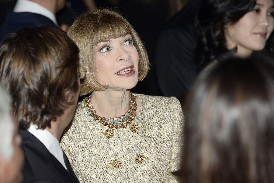Anna Wintour à l'inauguration de la Fondation Louis Vuitton le 20 octobre 2014 à Paris