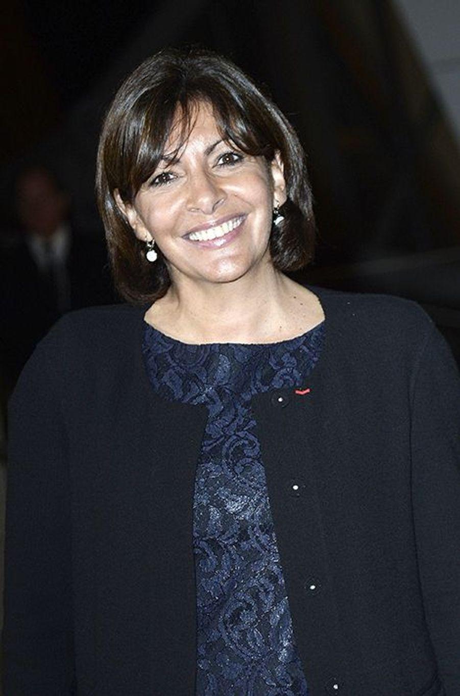 Anne Hidalgo à l'inauguration de la Fondation Louis Vuitton le 20 octobre 2014 à Paris