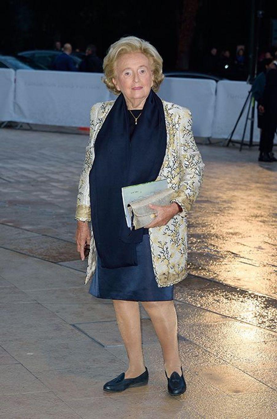 Bernadette Chirac à l'inauguration de la Fondation Louis Vuitton le 20 octobre 2014 à Paris