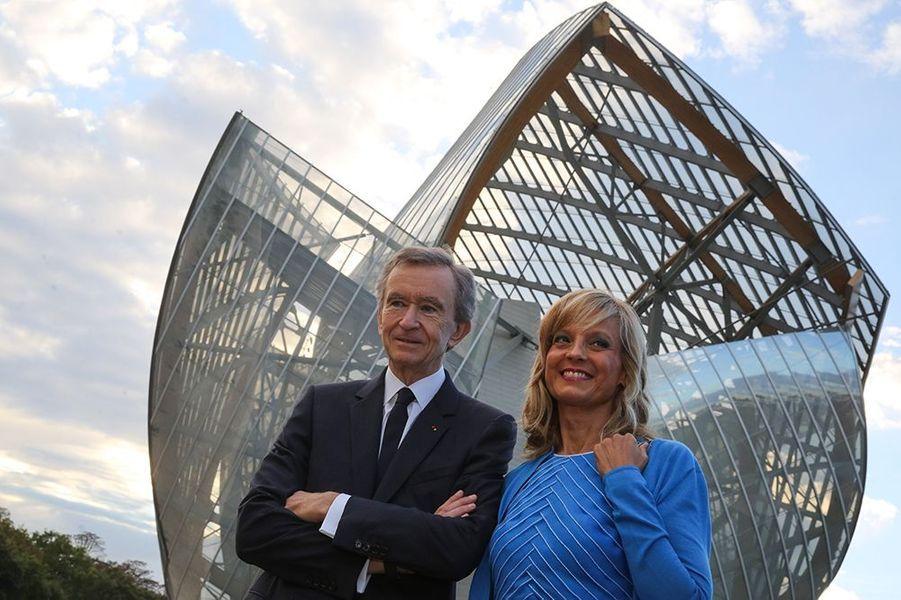 Bernard Arnault et son épouse, Hélène Mercier-Arnault, à l'inauguration de la Fondation Louis Vuitton le 20 octobre 2014 à Paris