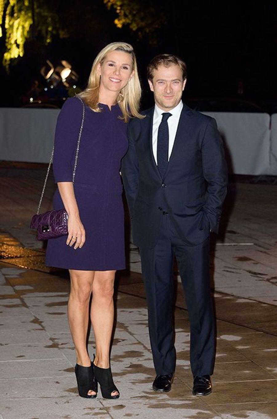 Laurence Ferrari et son compagnon, Renaud Capuçon, à l'inauguration de la Fondation Louis Vuitton le 20 octobre 2014 à Paris