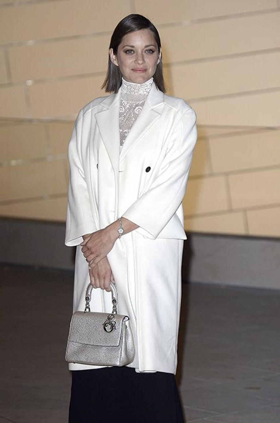 Marion Cotillard à l'inauguration de la Fondation Louis Vuitton le 20 octobre 2014 à Paris