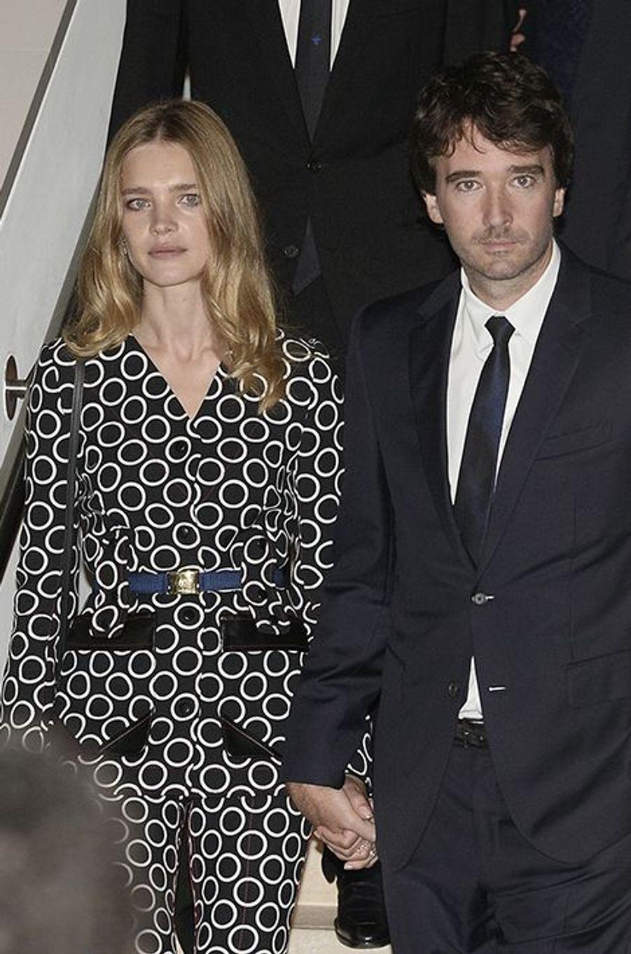 Natalia Vodianova et son compagnon, Antoine Arnault, à l'inauguration de la Fondation Louis Vuitton le 20 octobre 2014 à Paris