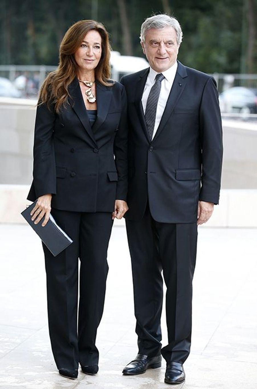 Sidney et Katia Toledano à l'inauguration de la Fondation Louis Vuitton le 20 octobre 2014 à Paris