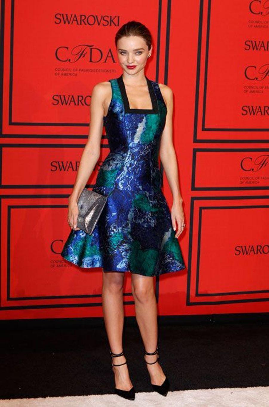 A la remise des prix du Conseil des créateurs de mode américains à New York, en juin 2013