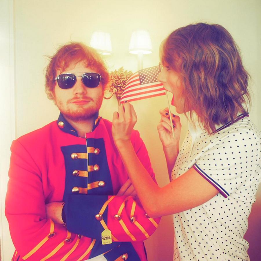 Ed Sheeran, photo postée par Taylor Swift pour la fête du 4 juillet