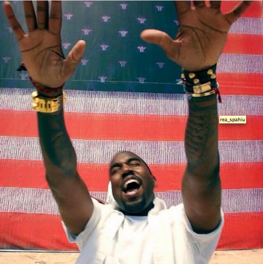 Kanye West, photo postée par Kim Kardashian pour la fête du 4 juillet