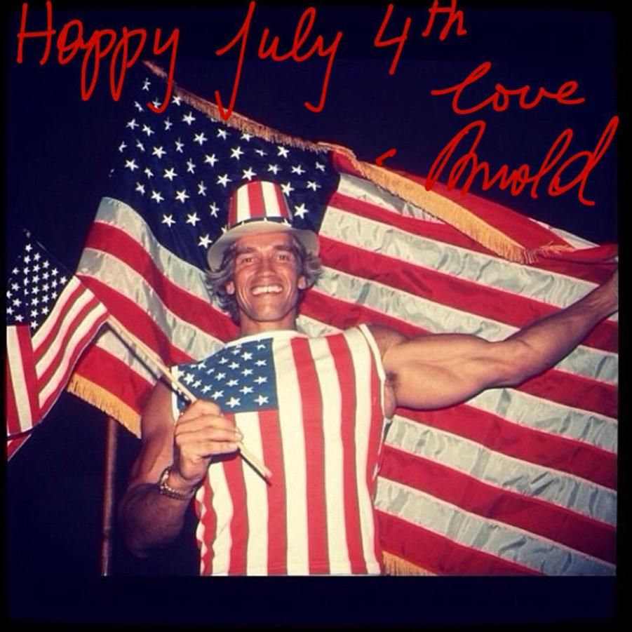Photo postée par Arnold Schwarzenegger pour la fête du 4 juillet