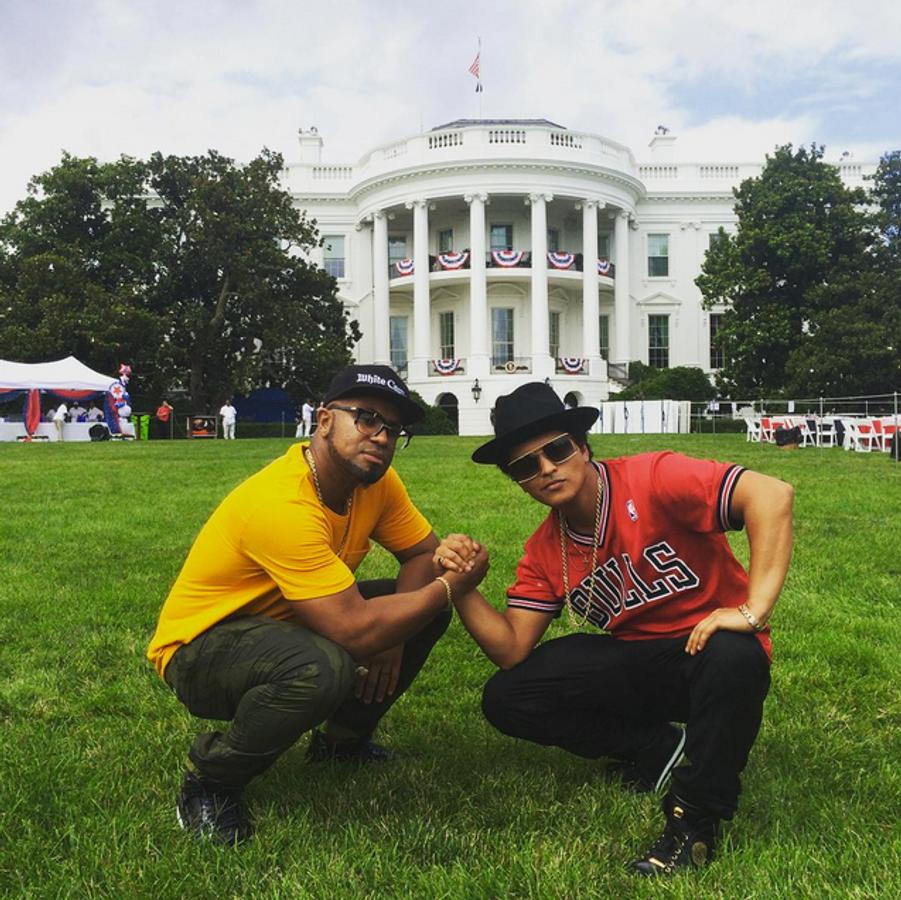 Photo postée par Bruno Mars pour la fête du 4 juillet